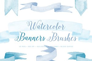 Photoshop Brushes Watercolor Banners