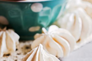 White sweet meringue