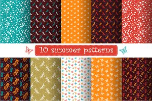 Set of summer pattern swatches