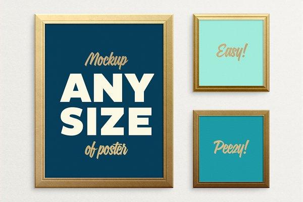 Poster Frame Mockup – fits ALL size…