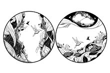 Circle Abstract Illustrations