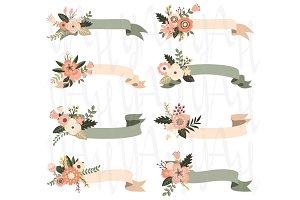 Floral Banner Elements