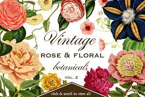 Vintage Rose & Floral Botanicals 2