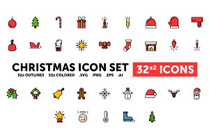 Christmas Icon Set - 32(x2) Icons