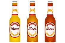 Bottle of beer. light, dark. vector.