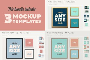 Poster Frame BUNDLE – Fits All Sizes