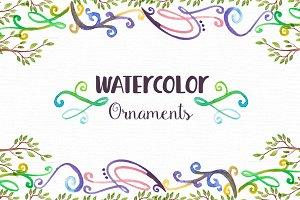 21 Watercolor Ornaments