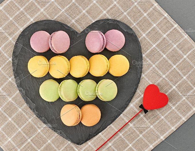 Still life,macaron,heart shape.Love - Food & Drink