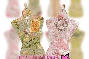 Dress Form Tag Set - PDF and PNG