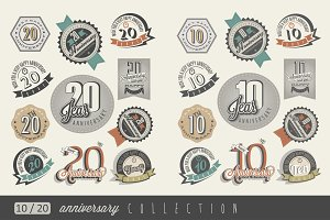 10 and 20 Anniversary collection