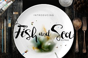 Fish and Sea Typeface+Extras