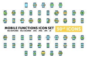 Mobile Functions - 50(x2) Icons