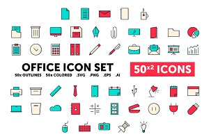 Office Icon Set - 50(x2) Icons