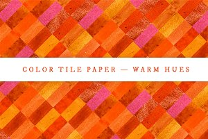 Color Tile Paper — Warm Hues