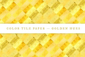 Color Tile Paper — Golden Hues