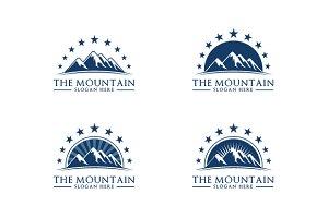 Mountain logo template 4 style