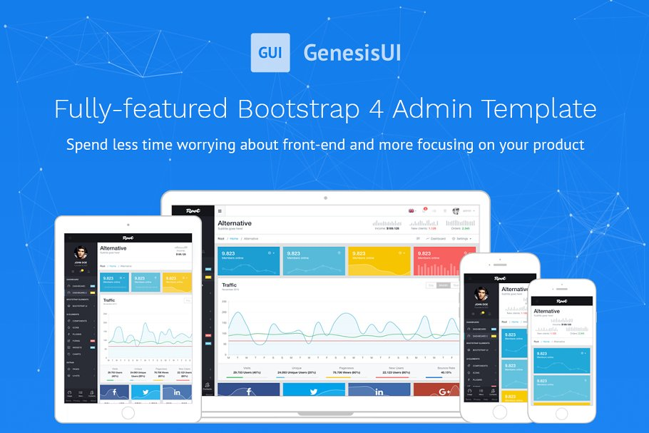 Root Bootstrap 4 Admin Template ~ Bootstrap Themes ~ Creative Market