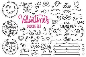 ♡ Valentine's Vector Doodle Set