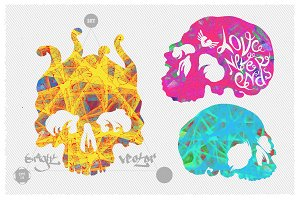Bright vector skulls ultimate pack