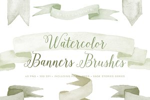 Banner brushes for Photoshop Peeps
