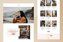 Demi: Grid-based Blogger theme