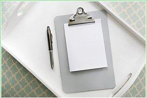 Gray clipboard mock-up