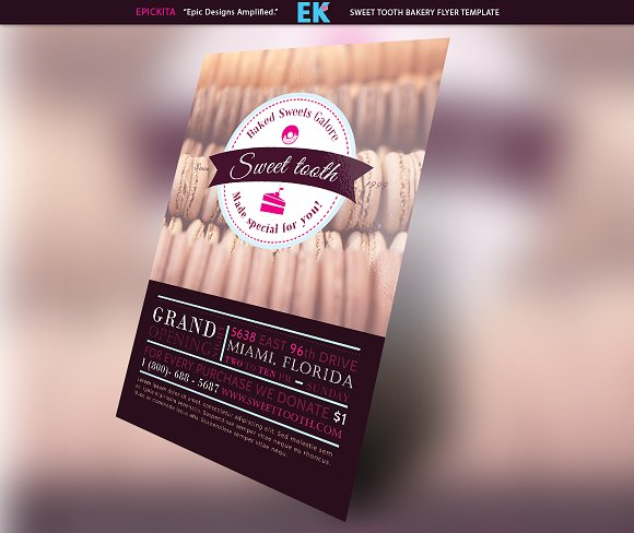 Sweet Tooth Bakery Flyer Template