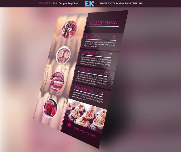 Sweet Tooth Bakery Flyer Template Templates Creative Market