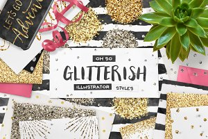 SALE! 100 Glitter AI Styles + EXTRAS