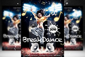 Breakdance Flyer Template