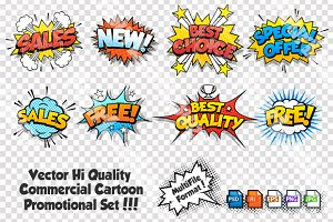 Commercial Cartoon Labels