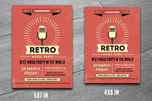 Retro Music Club Party Flyer-V190