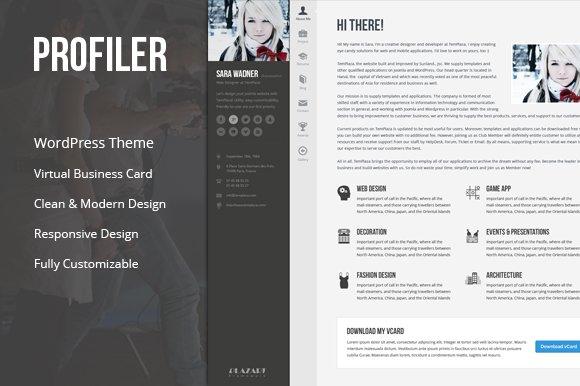 Profiler - Resume WordPress Theme