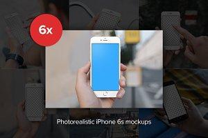 6x iPhone 6s mockups