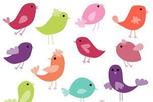 Funky Birds Photoshop Brushes