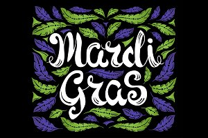 Mardi Gras Celebration Postcard