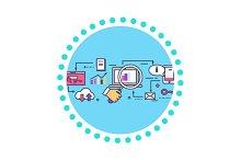 SEO Concept Icon Flat Design Style