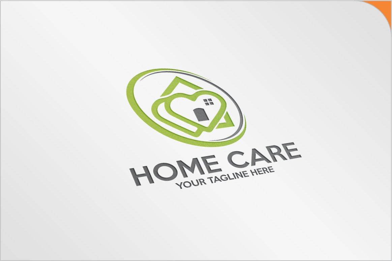 Love Home Care Logo Logo Templates Creative Market