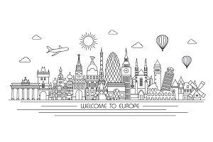 Europe line skyline