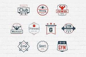 Gym Badges Logos