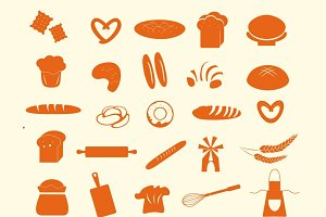 Bread vector icons