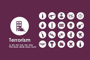 Terrorism icons