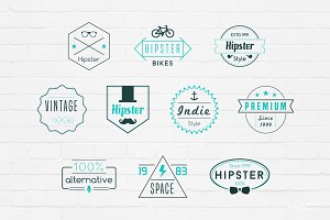 Hipster Badges Logos