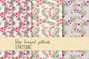 Rose bouquet pattern Set VR-02