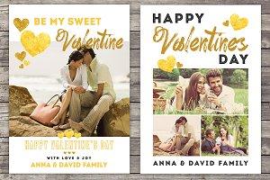 Golden Valentine's Day Card