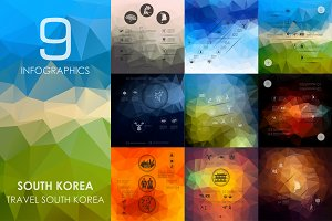9 South Korea infographics