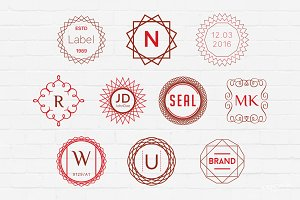 Monogram Badges Logos