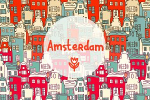 Vector Amsterdam set.