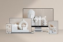 Responsive Devices Mockup Kit by  in Mockups