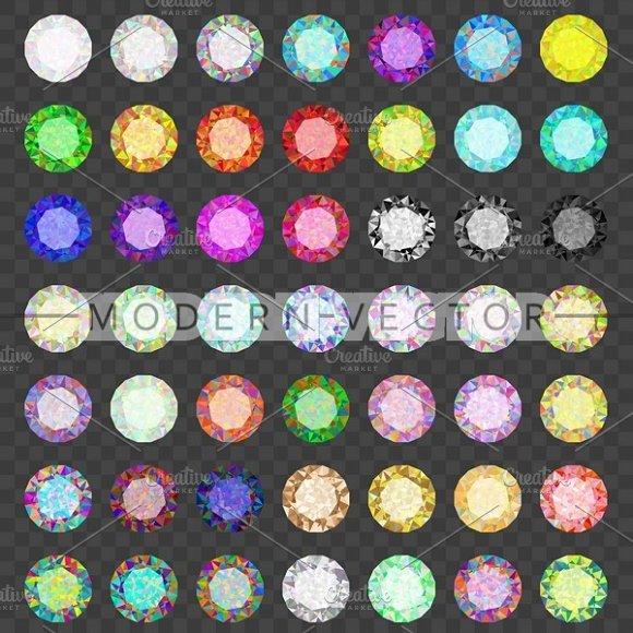 Set colored gems. Rhinestone - Objects